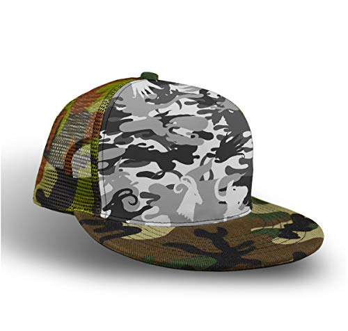 Camo Animal Antelope Grey Camouflage Camo Baseball Cap Slouch Hat for Kids Children Boys, Fitted Snapback Hat Tennis Cap Runner Cap, Foldable Sun Protection Hip Pop Dad Cap Trucker Cap