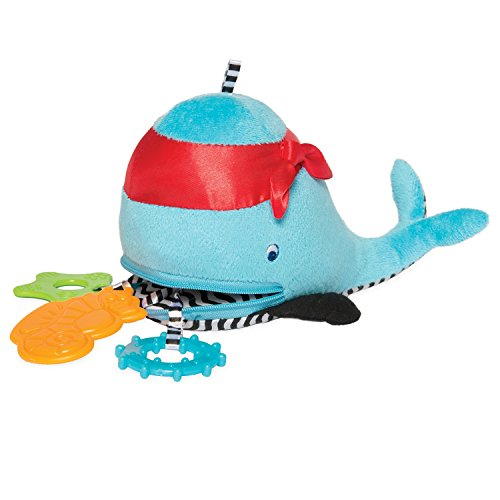 Infant Whale Rattle - Manhattan Toy Waldon Whale Zip & Play Teether