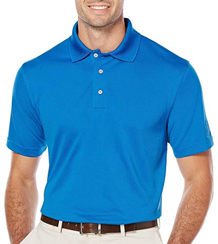 (PGA TOUR Mens Big & Tall Airflux Solid Polo Shirt 2XB Classic Blue)