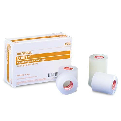 Curity Hypoallergenic Clear Tape 1 x 10 yds. [Qty 1 (5 Single)] by Kendall (Image #1)