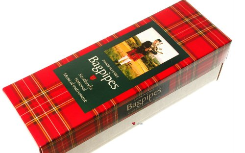 [해외]아일랜드 태풍의 갈대를 가진 어린 이용 Bagpipe 소형 재생할 수있는 Bagpipe/Kids Bagpipe Miniature Playable Bagpipe with Reed In Heritage of Ireland Tartan
