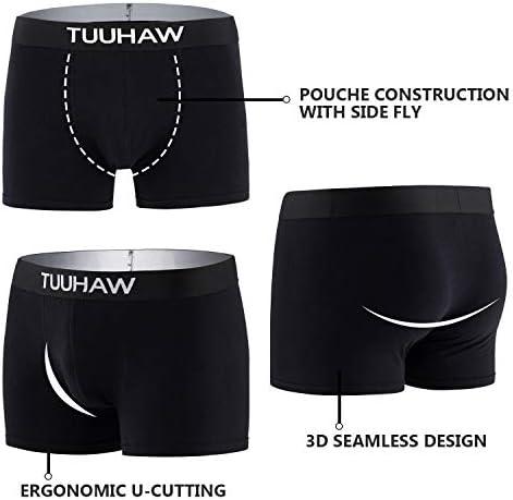 TUUHAW Boxer Homme Lot de 8 Respirant Coton Doux Cale/çons Homme