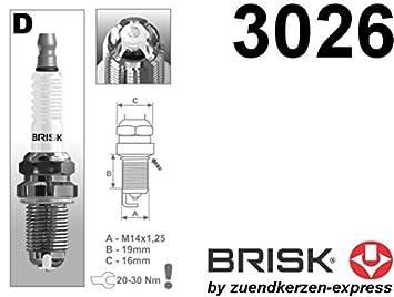 BRISK Premium Racing DOR15LGS 3026 Bujías de Encendido, 6 piezas: Amazon.es: Coche y moto