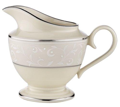 China Pearl China Creamer - Lenox Pearl Innocence Platinum-Banded Fine China Creamer