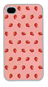 Cute Little Strawberry Pattern Theme Iphone 4 4S Case