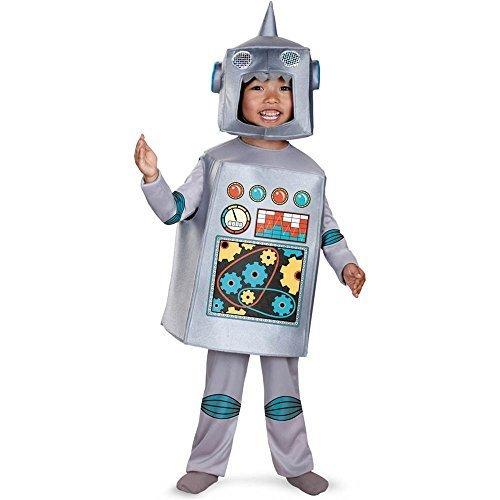[Retro Robot Costume - Toddler Medium] (Boy Robot Costume)