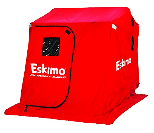 Eskimo 15400 QuickFlip 2 Portable Flip Style Ice Shelter with 60