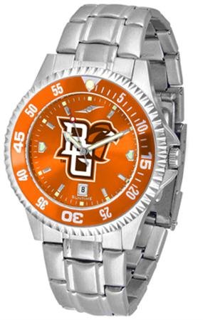 Bowling Green State Falcons Competitor Steel AnoChrome Color Bezel Men's Watch ()