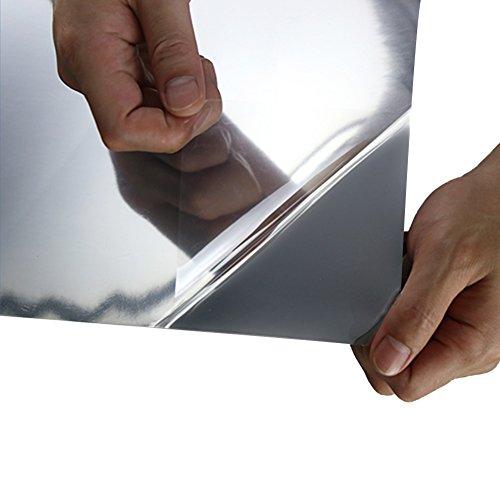 Yzakka Light Filtering Window Film Anti UV No Glue Sun Control Heat Control Residential Window Films for Glass Self Adhesive for Home Bedroom Bathroom Kitchen Office Dark, 27.6-Inch by 16.4-Feet by Yzakka (Image #5)'
