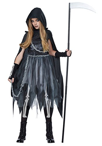 [California Costumes Reaper Girl Costume, Large, Black/Gray] (Mary Adult Womens Plus Size Costumes)