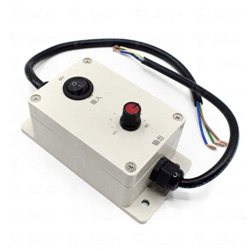 AC Motor Speed Controller 110V / 220V Motor Governor for Concrete Vibrator Vibration Motor (Speed Controller with Switch)
