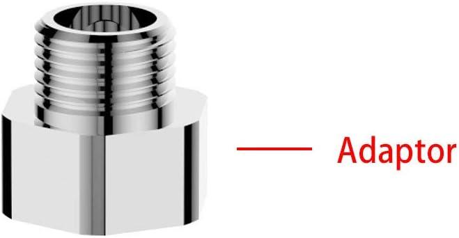 Metal GRIFEMA G3//8-G1//2 Adaptador de compresi/ón para Reino Unido de 3//8 1//2 Pulgadas Cromado plata