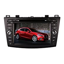 XTTEK 8 inch Touch Screen in dash Car GPS Navigation System for Mazda 3 2010-2013 DVD Player+Bluetooth SWC+Backup Camera+North America Map