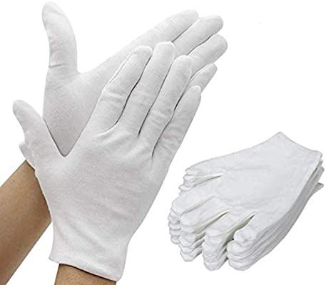 NEW 12 Pair of Cotton Work Gloves Soft Comfortable Protection  Size LARGE