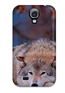 Galaxy S4 Case Slim [ultra Fit] Wolf Resting Protective Case Cover