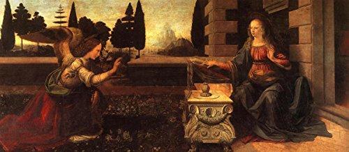 (Gifts Delight Laminated 24x10 Poster: Leonardo Da Vinci - Annunciation - da Vinci Leonardo)