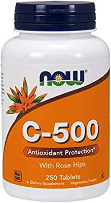 Now Supplements, Vitamin C-500, 250 Tablets