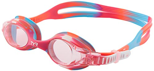 TYR Youth Tie Dye Swimple Goggles, Pink/White