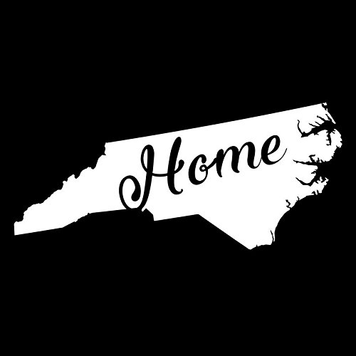 - North Carolina Home State Vinyl Decal Sticker | Cars Trucks Vans Walls Windows Laptops Cups | White | 5.5 X 2.4 | KCD1949