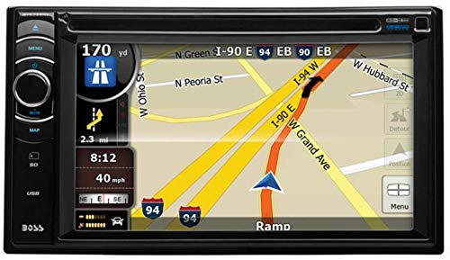 BOSS Audio Systems BV9386NV Car GPS Navigation - Double Din, Bluetooth Audio and Hands-Free Calling, 6.2 Inch Touchscreen LCD, MP3, CD, DVD Player, USB, SD, AUX Input, AM/FM Radio Receiver