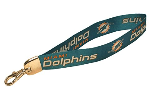 Pro Specialties Group NFL Miami Dolphins Wristlet Lanyard, Aqua, One Size