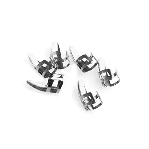 AISme 6 Pcs Finger Pick Plectrums Thumb Picks For Guitar Stainless Steel Metal