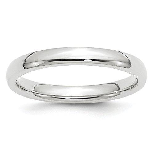Comfort Fit Wedding Ring Band Size 7.00 Classic Domed Cf Style Mm B Width Fine Jewelry For Women Gift Set ()