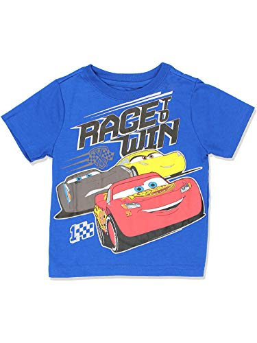 - Disney Cars 3 Boys Short Sleeve Tee (5T, Win Blue)
