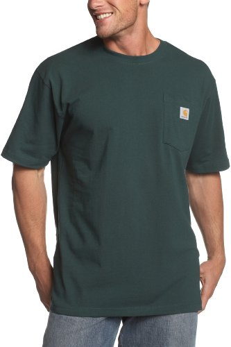 Carhartt Men's Big K87 Workwear Pocket Short Sleeve T-Shirt (Regular and Big & Tall Sizes), Hunter Green, 3X-Large/Tall