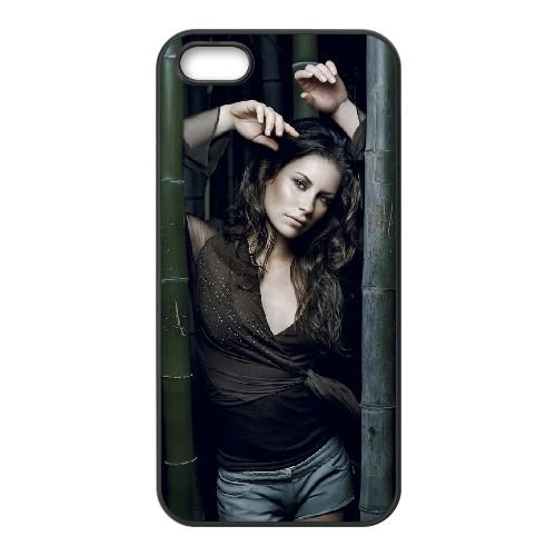 Free Evangeline Lilly Image coque iPhone 5 5S cellulaire cas coque de téléphone cas téléphone cellulaire noir couvercle EOKXLLNCD23760