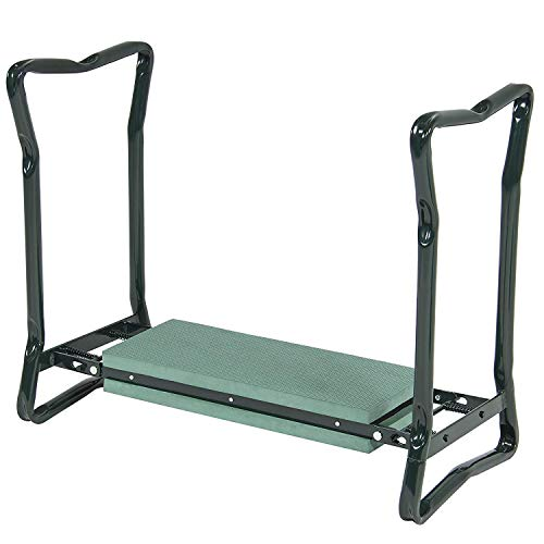 Garden Kneeler and Seat,Folding Garden Kneeler - Folding Bench Stool with Kneeling Pad for Gardening - Sturdy, Lightweight and Practical - Protect Your Knees and Clothes When Gardening- Gardening Gift