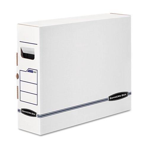 FELLOWES Manufacturing 650 X-Ray Storage Box, Film Jacket Size, 5 x 14-7/8 x 18-3/4, White/Blue, 6/Carton