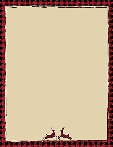 Great Papers! Buffalo Red Reindeer Holiday Letterhead, 8.5