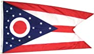 Ohio State Flag 3x5 ft. Nylon SolarGuard NYL-Glo 100% Made in USA to Official State Design Specifications by A