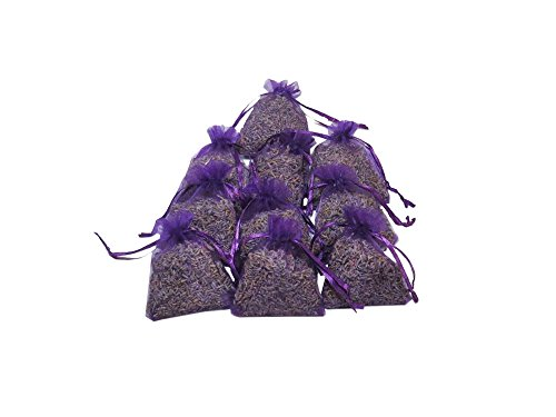 RakrisaSupplies Deep Purple Lavender Sachet Bags Pack of 15 | Natural Deodorizer, Moth Repellent, & Highest Fragrance Lavender Scent Sachets | LS-009 (Lavender Scent)