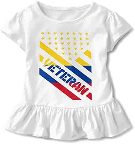 Toddler Baby Girl Colombia Flag Dog Paw Funny Short Sleeve Cotton T Shirts Basic Tops Tee Clothes