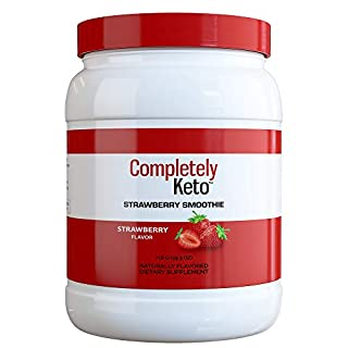 Completely Keto – Strawberry Smoothie Breakfast Meal Replacement Shakes – Keto Powder for Weight Loss Shakes – Low Carb Alternative to Protein Shakes, Strawberry Flavor