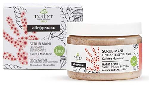 Natyr Bio Hand-Peeling - für samtweiche und schöne Hände mit Sheabutter und Mandelöl 150 ml