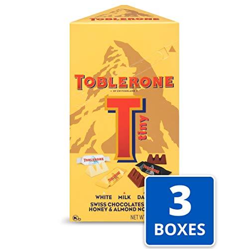 Toblerone Tiny Swiss Chocolates Variety Pack, Milk Chocolate, Dark Chocolate & White Chocolate (Pack of 3)