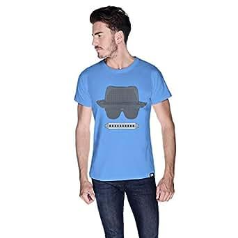 Creo Beach Hat Glasses T-Shirt For Men - M, Blue