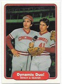 Johnny Bench & Tom Seaver 1982 Fleer Cincinnati Reds Dynamic Duo! Card #634