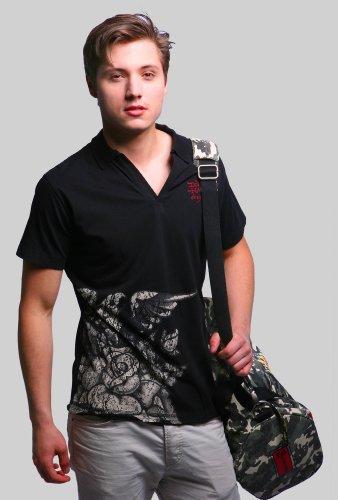Ed Hardy Herren Poloshirt Black 2J1A1EPL-BK
