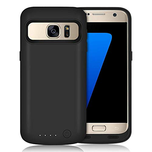 (Galaxy S7 Battery Case 5000mAh Upgraded Portable Rechargeable Extended Battery Pack for Samsung Galaxy S7 Charging Case for Galaxy S7 Protective Charger Cover -Black)