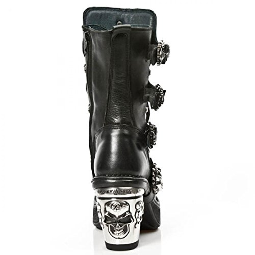 New Rock Boots M.8366-c2 Gotico Hardrock Punk Damen Highheels Schwarz