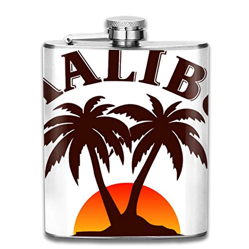 Malibu Rum Drink - UBSOCKSG Perfect Malibu Rum Stainless Steel Hip Flask 7 OZ - Sneak Alcohol Anywhere for Man,Woman