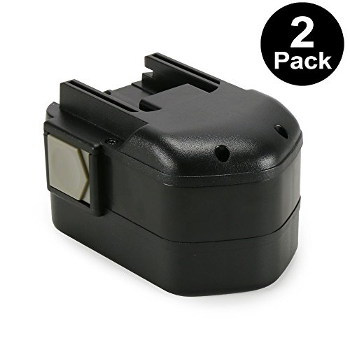 (POWERAXIS 2-Pack 14.4v Replacement Battery for Milwaukee 48-11-1000 48-11-1014 48-11-1024 Series Cordless Tool, Milwaukee 14.4 volt Battery)