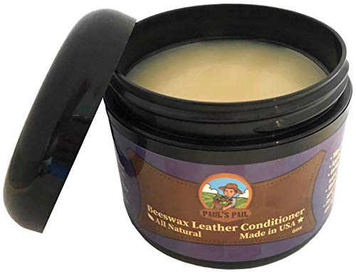Neatsfoot Oil Uses - Paul's Pail All Natural Leather Conditioner | Genuine Leather Restorer, Softener and Protector | Leather Care for Purses, Saddles, Jackets, Shoes, Boots, Gloves, and More | Non- Toxic | Made in USA