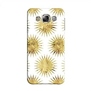 Cover It Up - Gold White Star Samsung Galaxy E5 Hard Case