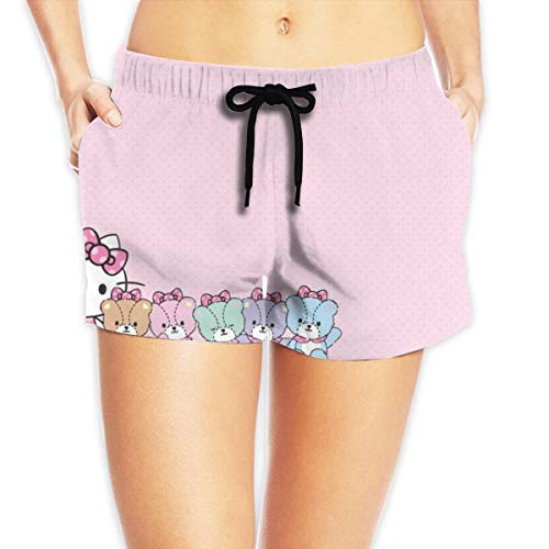 Women Sexy Hot Pants Summer Casual Shorts Hello Kitty with Friends Short Beach Trousers White