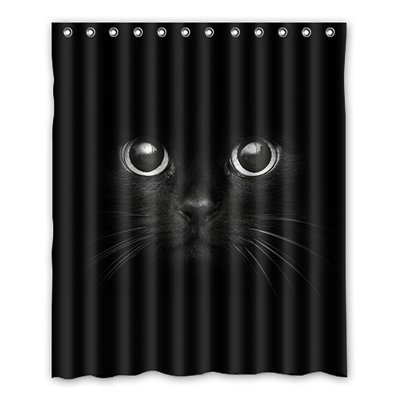 Image Unavailable Not Available For Color Custom Funny Cat Shower Curtain